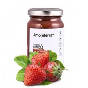 Composta di fragole (senza pectina, solo zuccheri della frutta) - Bio
